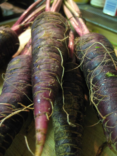 purple carrots from the farmer's market