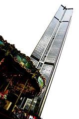 Tour Montparnasse (*janina*) Tags: city trip house paris france building tower architecture skyscraper high tour gare pentax august carousel barak montparnasse 2009 francie vylet vez srpen dum tourmontparnasse architektura mesto nadrazi rozhledna vysoky pariz budova kolotoc mrakodrap k20d