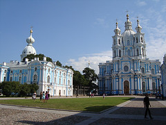 Smolny Cathedral in St. Petersburg (IanReesArt) Tags: saint st ian russia petersburg rees wwwianreescom ianreescom