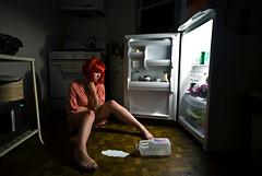 308 (bex finch) Tags: portrait kitchen self iso100 milk fridge floor lola saying scene 365 spill f5 idiom dontcryoverspilledmilk 14mm 2s nikond80 thatsmyweekitchen andmyredwig
