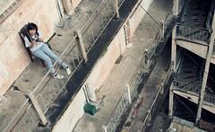 (Syka Lê Vy) Tags: selfportrait love girl vietnam jeans vy analogue canonae1 dreamer 2009 oldbuilding sleepwalker lê syka vắng fromsykawithlove themiddleoftheride pleasedonttakemyfreedom sykalevy lehoangvy sundayspirit