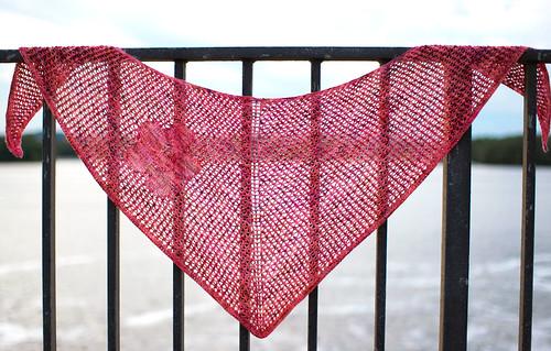 Hibiscus shawl