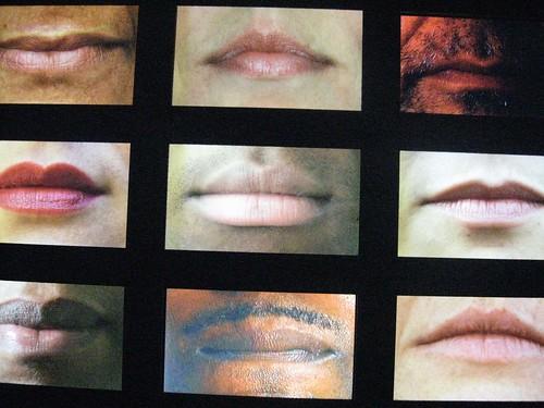 bocas, bocas, foto minha, no Museu da Língua Portuguesa