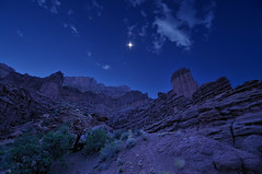 The Magic of Moonlight at Fisher Towers (Fort Photo) Tags: blue moon nature night landscape evening utah ut nikon rocks nightscape desert searchthebest luna moonlit moonlight 2009 moonscape afterdark d300 catchycolorsblue fischertowers platinumheartaward tokina1116