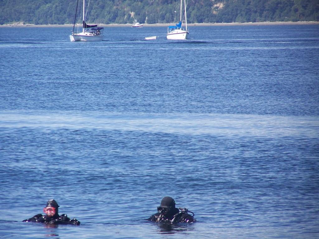 jj 331 Zwei divers, zwei boats