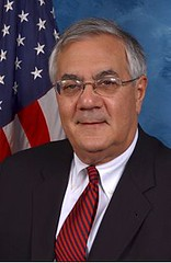 BARNEY FRANK: official portrait of a smiling F...