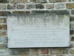 Photo of Richard Trevithick stone plaque