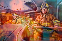 The Fire (©Delos Johnson) Tags: city detail fire nikon magic firetruck firemen topaz delos adjust d300 denoise strobist calerafiredepartment