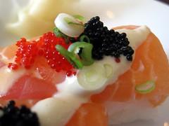 zen on ten - hakozushi (box sushi) with tuna and salmon