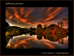 Reflecting Autumn (Irishphotographer) Tags: autumn sunset reflection water dawn evening walks dusk lakes kinkade beautifulireland irishphotographer colorphotoaward imagesofireland kimshatwell breathtakingphotosofnature reflectingautumn beautifulirelandcalander wwwdoublevisionimageswebscom