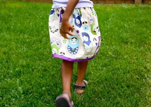 matryoshka doll lazy day skirt