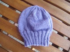 Purple baby beanie