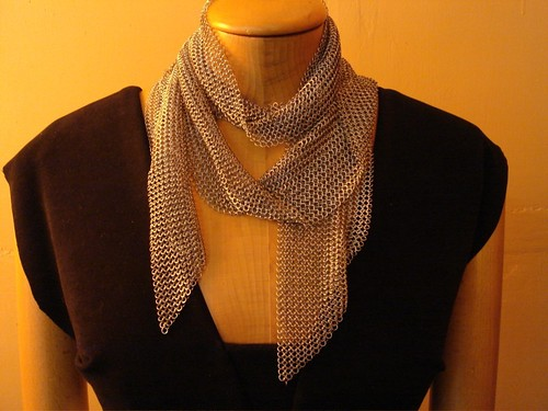 chainmail scarf by metalandthread at etsy