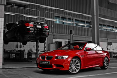The New BMW M3 (Talal Al-Mtn) Tags: new red bw black canon silver photography rebel automobile d top garage hard engine twin automotive turbo automatic bmw kuwait manual m3 rims 2009 twinturbo v8 geart xsi q8 the kwt xti 450d lm10 inkuwait talalalmtn  bytalalalmtn the2009bmwm3isa5passengerluxurysportscoupethe2009bmwm3ispresentboth2or4doorthe2009bmwm3isconvertiblesportscar orluxurysportssedan thenewbmwm3