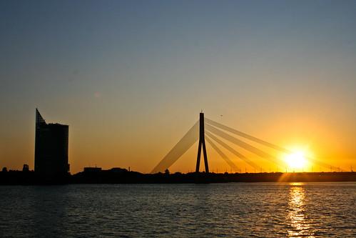 Atardecer en Riga