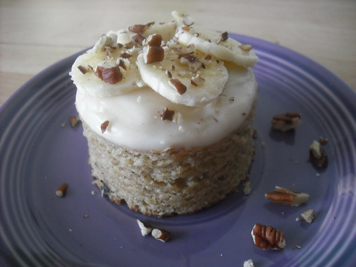 "Banana-Walnut Cake w/ ""Cream Cheese"" Frosting"