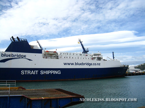 blue bridge ship