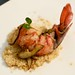 Sous vide butter-poached lobster tail, with mushrooms