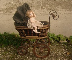 rosemary's baby (fairyina3) Tags: baby car garden hair outside shoes stroller gothic victorian fairy wig rosemary bjd cart pram perambulator pushcart praam basinette bobobie