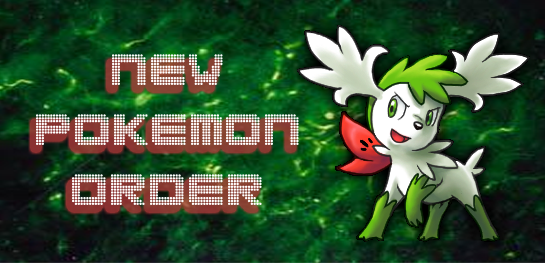New Pokemon Order