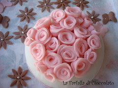 Bouquet rose dall'alto