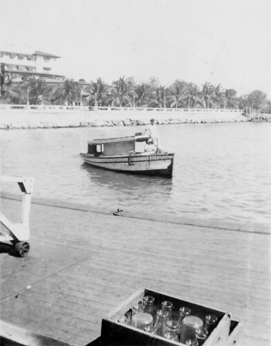 Manila Hotel and waterfront, photographed in 1939