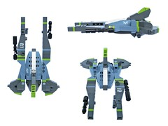 Aku v3 - VV (Fredoichi) Tags: fighter lego space shooter shootemup starfighter gradius shmup vicviper novvember fredoichi