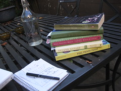 readings for garden project class (spring 2010): jessica prentice's full moon feast; michael pollan's second nature; barbara kingsolver's animal, vegetable, miracle; novella carpenter's farm city; and michael pollan's the omnivore's dilemma (davidsilver) Tags: book books read teaching readings gardenproject syllabi