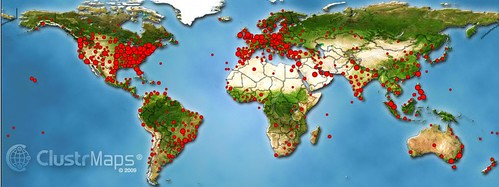 Clustr Map for the Global Education Coll by elemenous, on Flickr