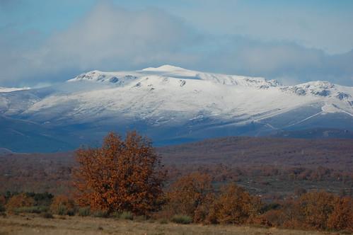 Primeras nieves sobre La Cabrera.