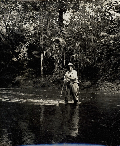 David Fairchild wading in the Kasiruta River