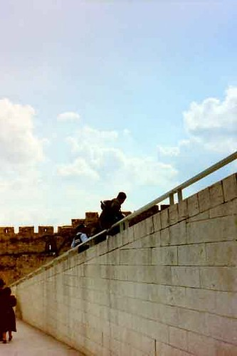 Yerushalayim   - Western Wall Israeli soldier and cop on duty in the City of David