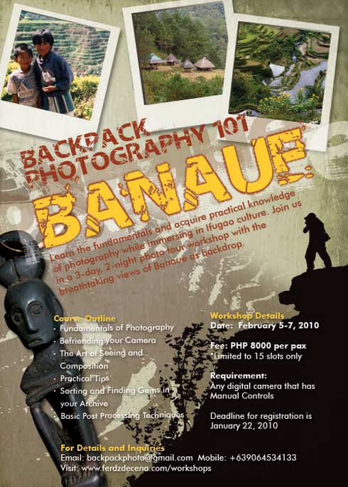 Backpack Photography 101: Banaue Workshop