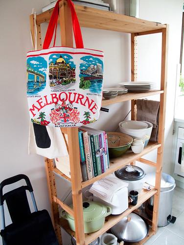 melbourne vintage teatowel tote