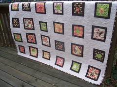 Tina Givens quilt (The Pin Cushion) Tags: log cabin quilt tina wonky givens