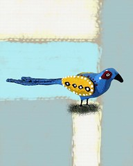 cedar fen blue dove 1 (Paper Cottage) Tags: bluebird birdprint picturesofbirds