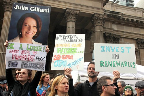 Julia Gillard don't cave in to pressure from big polluters - Melbourne World Environment Day 2011