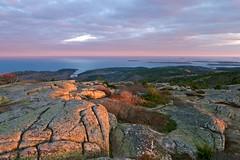 (wxkeith) Tags: ocean sunset sky usa clouds nationalpark rocks day cloudy maine mountdesertisland cadillacmountain acadianationalpark hancockcounty