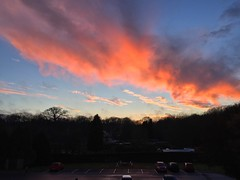 After Sunset Clouds (Marc Sayce) Tags: pink sky skies fiery clouds sunset february winter 2017 forest alice holt hampshire bucks horn oak farnham surrey south downs national park