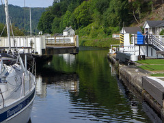 Unlocked by the Swing (RIch-ART In PIXELS) Tags: crinan crinancanal scotland unitedkingdom lock leicadlux6 dlux6 leica sailboat water canal bridge swingbridge schotland
