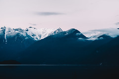 Pitt Lake (eric.vanryswyk) Tags: british columbia canada sea to sky corridor clouds snow ice dark moody forest moss swamp mountain mountains cliff cliffs rainforest road tarmac countryside landscape serene nikon d610 nikkor 50mm f18 pitt meadows country river lake cap peaks