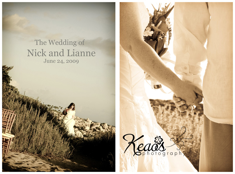 Intro blog storyboard for Nick Lianne Wedding