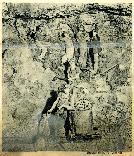 A photograph of likely zinc or lead miners