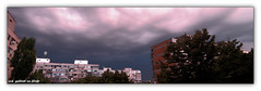 Threatening sky over Bucharest, at sunset - panorama (cod_gabriel) Tags: sunset panorama storm clouds atardecer stormy bucharest ocaso  hdr bucuresti coucherdesoleil nori solnedgang bukarest  boekarest  bucarest furtuna matahariterbenam  bucareste