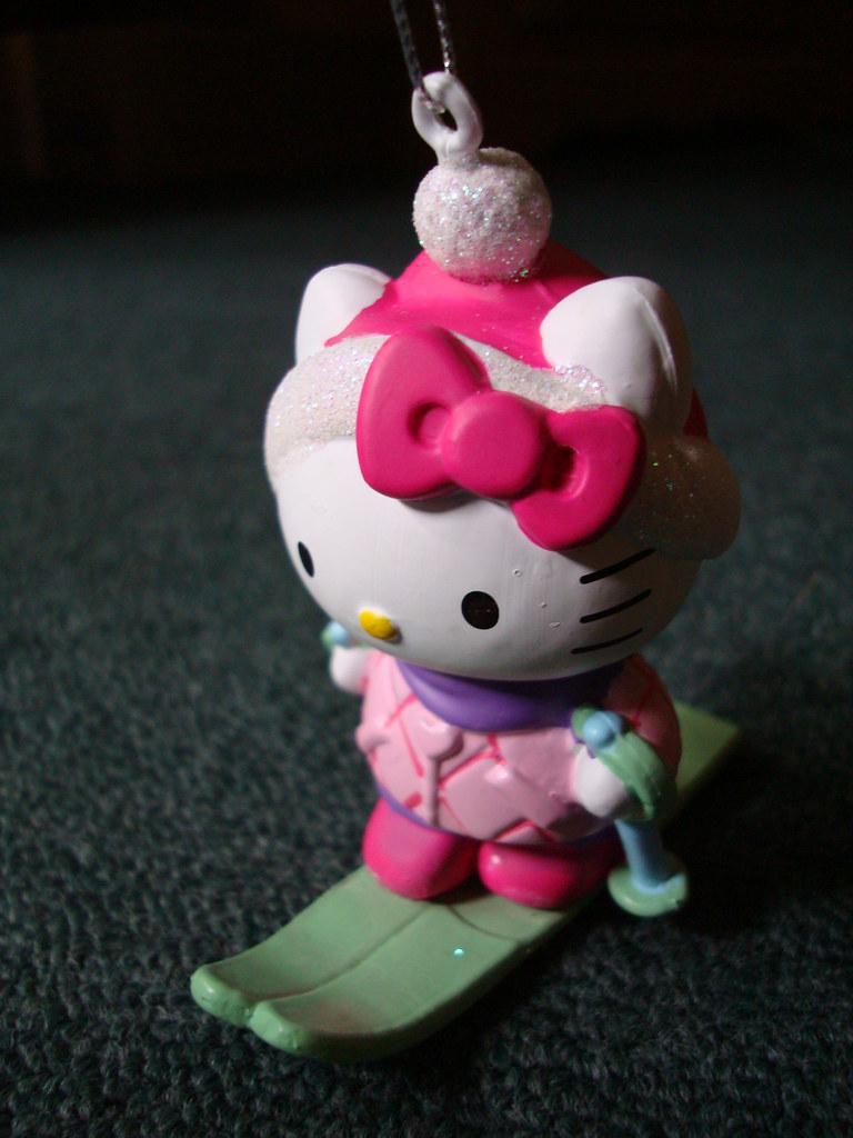Hello Kitty Skiing Ornament
