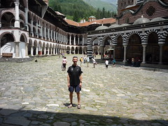 Warwick at Rila Monastery (Tania and Warwick) Tags: bulgaria rila 2009 easterneurope