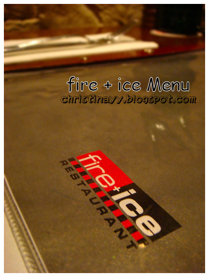 Fire + Ice Restaurant: Menu