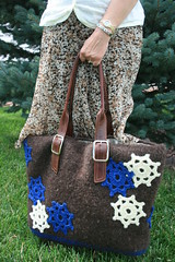 Snowflake Holiday Tote