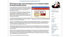 Every time you type a two-word Captcha, you're helping to digitize the world's printed archives. - SimsBlog_1248431585921
