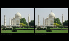 hues of green, agra (nevil zaveri) Tags: trees india tree heritage monument up architecture garden photography blog 3d photographer photos muslim islam towers stock taj mahal tajmahal agra places images stereo photographs photograph marble muslims zaveri wonders islamic stockimages pradesh travelogue uttar nevil 3dimensional uttarpradesh minars nevilzaveri moghual